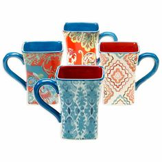 Tracy Porter® Poetic Wanderlust® French Meadow 14 oz. Mug (Set of 4) - BedBathandBeyond.com