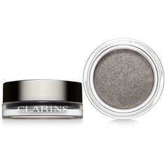 Clarins Ombre Iridescent Cream-to-Powder Eye Shadow found on Polyvore featuring beauty products, makeup, eye makeup, eyeshadow, beauty, silver grey, clarins eye shadow, clarins and clarins eyeshadow