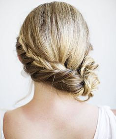 Rope Braided Updo Hairstyles 2015