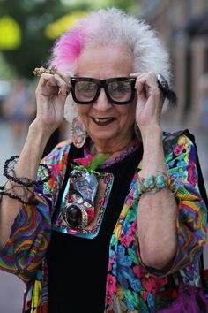 """I ran into artist, Jean Betancourt in the East Village over the weekend. I haven't seen her for a long time and when I told her how wonderful she looked, she replied, 'I'm not even in full regalia today.'"" - that's the spirit! - ADVANCED STYLE"