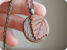 Autumn fall necklace Maple leaf pendant Autumn jewelry Woodland necklace Gift for mom Forest fairy jewelry Raindrop Burnt necklace leaves Polymer Clay Pendant, Polymer Clay Jewelry, Ceramic Jewelry, Wooden Jewelry, Orange Braun, Fairy Jewelry, Diffuser Jewelry, Wooden Necklace, Necklace For Girlfriend
