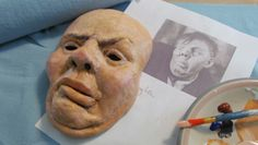 Paper mache, for adults! Learn to sculpt with paper mache and Jonni's famous Paper Mache Clay. Paper Mache Mask, Making Paper Mache, Paper Mache Sculpture, Sculptures, Paper Mache Projects, Paper Mache Crafts, Art Projects, Origami, Crafts For 3 Year Olds