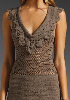 Ganchillo hecho a encargo verano vestido RI113 por CottonMystery