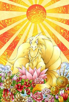 Ninetales ( Feunard) the Divine- Pokemon