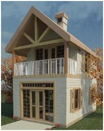 Free Two-Story Cabin Plans - Texas architect Dan O'Connell created this dramatic little house exclusively for Today's Plans.