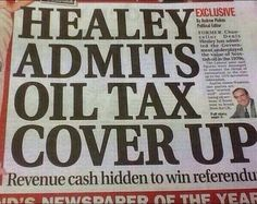 Healy Oil Tax Cover Up