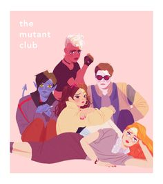 young mutants x the breakfast club (art by mohtz.tumblr.com)