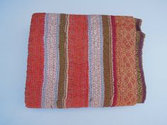 Authentic Vintage Cotton Sari Kantha Quilt Quilted by Labhanshi, $85.00