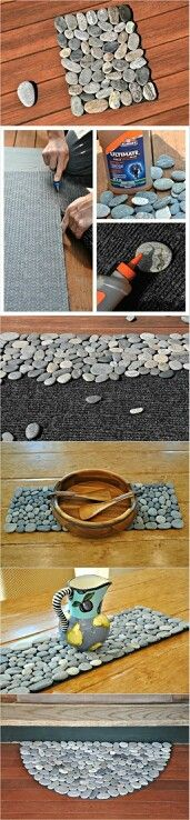 Pebble mat. May have to start saving flat stones.