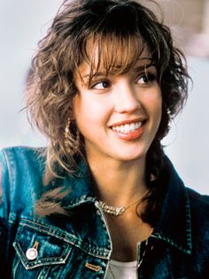 Jessica Alba in Honey with wispy bangs and curly hair pigtails