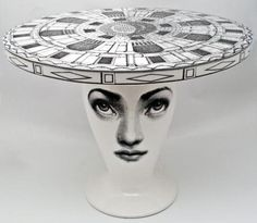 Tavolo Architetttonico by Piero Fornasetti for Bitossi:Measures 50 x Made of ceramic. by IST Find Furniture, Table Furniture, Painted Furniture, Furniture Design, Piero Fornasetti, Italian Painters, Ceramic Table, Furniture Inspiration, Decoration