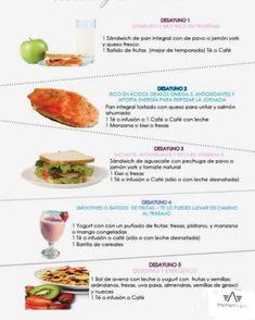 Ideas de desayunos ricos y saludables by nell Healthy Habits, Healthy Tips, Healthy Snacks, Healthy Recipes, Healthy Breakfasts, Weight Loss Meals, Bon Ap, C'est Bon, Clean Eating Snacks