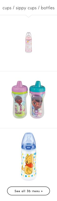 """cups / sippy cups / bottles"" by trippy-anons ❤ liked on Polyvore featuring baby, baby bottle, baby stuff, kitchen, baby bottles, baby boy, bottles, baby clothes, sippy cups and baby girl"