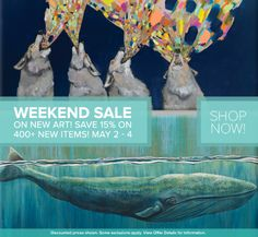 Weekend Flash Sale – 15% Off New Art at GreenBox Art. Through May 4th, save on Stretched Canvas Art, Oversize Artwork, Wall Decals, Huge Wall Murals, Decorative Table Lamps, Framed Art Prints, and more!