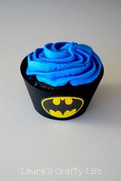 THIS ONE Batman printables for cupcake liners. @nikki striefler striefler striefler Namisnyk