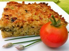 Quinoa, Cheddar and Zucchini Bake...perfect as a side but holds its own as the main dish!