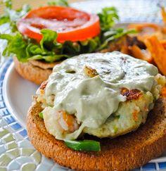 Shrimp and Chip Burgers with Gremolata mayo Shrimp Burger, Salmon Burgers, Small Food Processor, Food Processor Recipes, How To Cook Shrimp, Rolls Recipe, Shrimp Recipes, Soul Food, Entrees