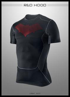 Red Hood Combat Shirt by ~seventhirtytwo on deviantART