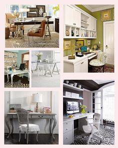 Just plain beautiful office collected by The Savvy Photographer