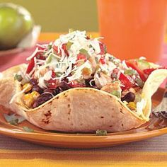 Chicken and Black Bean Taco Salad with Chipotle Dressing | MyRecipes.com