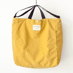 WONDER BAGGAGE ワンダーバゲージ Relax tote 2 : mustard x black リラックス トート 2 マスタード ブラック Tote Backpack, Tote Bag, Shoe Painting, Diy Fashion, Fashion Outfits, Painted Shoes, Handmade Bags, Baggage, Cork