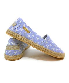 Another great find on #zulily! Violet & White Espadrille by Stella Cove #zulilyfinds