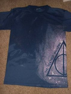 Deathly Hallows bleach stencil shirt *Update* Made one for my momma too! - IMAGE REPRODUCTION TECHNIQUES