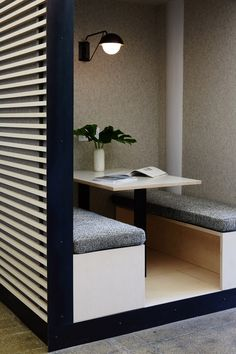 Felt-lined booths and Scandinavian furniture feature in office for mobile game Dots