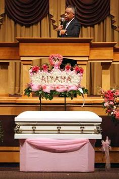 Rev. Al Sharpton preaches at the funeral of 7 year old Aiyana Stanley-Jones at the Second Ebenezer Church in Detroit, Michigan on May 22.