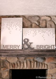 Merry and Bright Christmas art with Ampersand cutout Christmas 2013? :-)