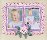 """Dizzy Designs Crochet Photo Frames by D. Zyla - Exclusive designs handmade by me and each is created and sold as I """"doodle-crochet"""" them up! Great for Scrapbooking-On-The-Wall (in frames) or thin enough for scrapbook page layouts, Great gift-giving for Mom's Day (or Father's Day), Graduation, Wedding, etc.!"""