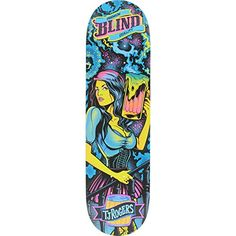 """Blind TJ Rogers Resin 7 Blacklight Skateboard Deck - 8.25"""" x 31.7"""" - http://shop.dailyskatetube.com/product/blind-tj-rogers-resin-7-blacklight-skateboard-deck-8-25-x-31-7/ -  This professional quality Blind Blacklight Deck measures 8.25"""" width x 31.7"""" length and is suitable for each and every skill level from beginner to pro. A versatile same old deck that is highest for street, pool, park and vert, it is solidly made out of top of the range resin 7 and is built to -"""