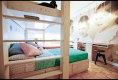 Bedroom for Triplets in Midtown Manhattan