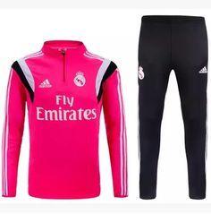 18c88e3a2fd Billige Neue Fussball Trainingsanzug Herren Kits Real Madrid Rosa 2015 2016  Thailand Soccer Season