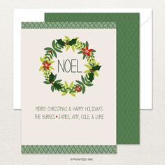 This modern Christmas card from Printed Ink is a great way to share your holiday celebrations.