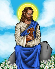 Google Image Result for http://www.deviantart.com/download/28097667/Jesus_with_Dachshund_by_TestingPointDesign.jpg