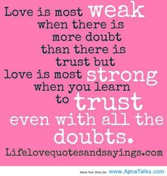 Learning to trust again