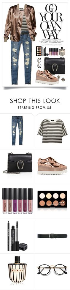 """Untitled #180"" by starshineb ❤ liked on Polyvore featuring Hollister Co., TIBI, Gucci, STELLA McCARTNEY, Anastasia Beverly Hills, NYX, Rodial, M&Co, Paul Smith and Marni"