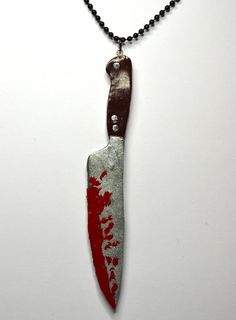 Bloody Knife Necklace by EloisesBoutique on Etsy