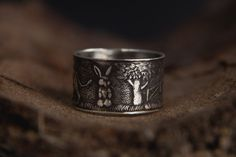 Animal Sterling Silver Ring-Farm Inspired Silver от MarrenJewelry