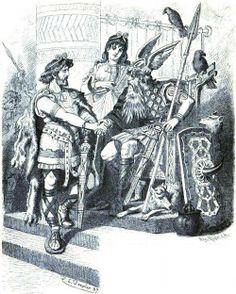 Vidar and Odin by Carl Emil Doepler 'The Elder' (1882)