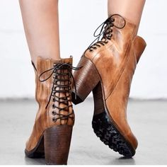 Make your statement this fall in STEFFIE. This drop dead gorgeous pair features clean lines, a side zipper, and a beautiful lace up back. This boot looks sensational from the front, but really dazzles in the back.