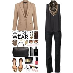 Work Wear by ealkhaldi on Polyvore featuring H&M, Maggie, Jeffrey Campbell, MANGO, Betsey Johnson, GUESS, Biba, J.Crew, Lucky Brand and Chanel