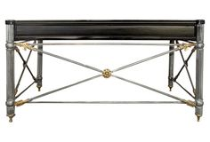 Neoclassical-Style Iron & Lacquered Desk