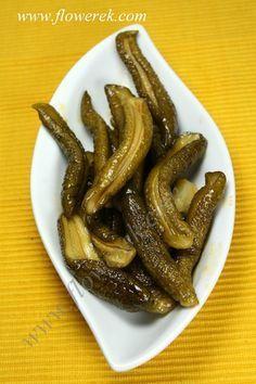 Krokodylki, przepis na ogórki z chili | Moje gotowanie - flowerek.com Polish Recipes, Polish Food, Preserves, Pickles, Bacon, Salads, Food And Drink, Canning, Drinks