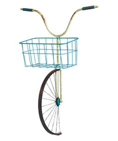 Another great find on #zulily! Front Basket Bicycle Planter #zulilyfinds