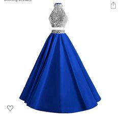 Royal Blue Prom Dresses, Prom Dresses Two Piece, Sequin Prom Dresses, Pretty Prom Dresses, Elegant Prom Dresses, Blue Wedding Dresses, Formal Dresses For Weddings, A Line Prom Dresses, Wedding Dress Sizes