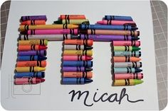 Crayon Letter Shadowbox