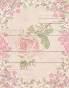 Vintage & Victorian: Papel de Carta Vintage de Flores