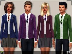 Sims Addictions: School Uniform by Margies Sims • Sims 4 Downloads